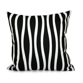 18 x 18-inch Curvy Stripe Decorative Throw Pillow