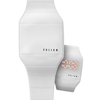 Dakota Fusion 'White Hidden Touch' Digital LED Watch