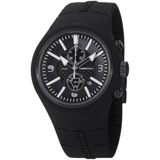 Momo Design Men's MD1009BK-04BKRD-RB 'Mirage Chrono' Black Dial Black Rubber Strap Quartz Watch