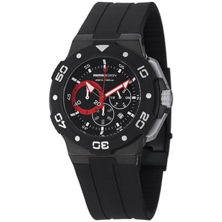 Momo Design Men's MD1009BK-01BKRD-RB 'Tempest' Black Dial Chronograph Rubber Strap Watch