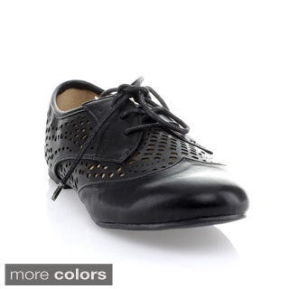 Mixx Shuz Women's 'Salma' Perforated Lace-up Oxford Shoes