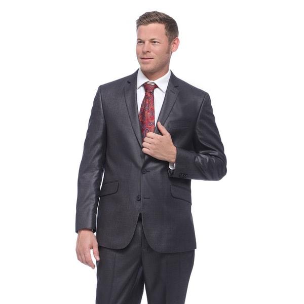 Kenneth Cole Reaction Men's Slim Fit Grey Basketweave Suit