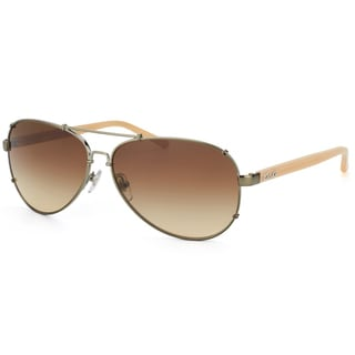 Dolce & Gabbana Unisex 'DD 6047 319/13' Gunmetal and Tan Aviator Sunglasses
