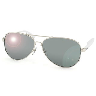 Dolce & Gabbana Unisex 'DD 6047 062/6G' Silver and White Aviator Sunglasses