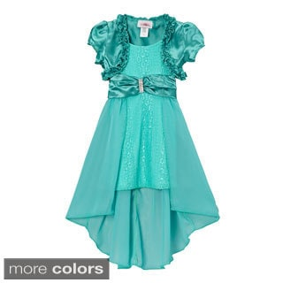 Girls (Toddler) Lace High-low Dress and Satin Shrug Set