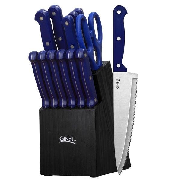 Ginsu Essentials Series 14-piece Blue Cutlery Set