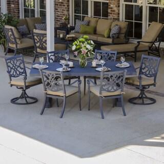 Camellia 7-piece Cast Aluminum Patio Furniture Dining Set