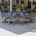 Camellia 7-piece Cast Aluminum Patio Furniture Dining Set