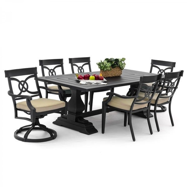 St. Charles 7-piece Cast Aluminum Patio Dining Set