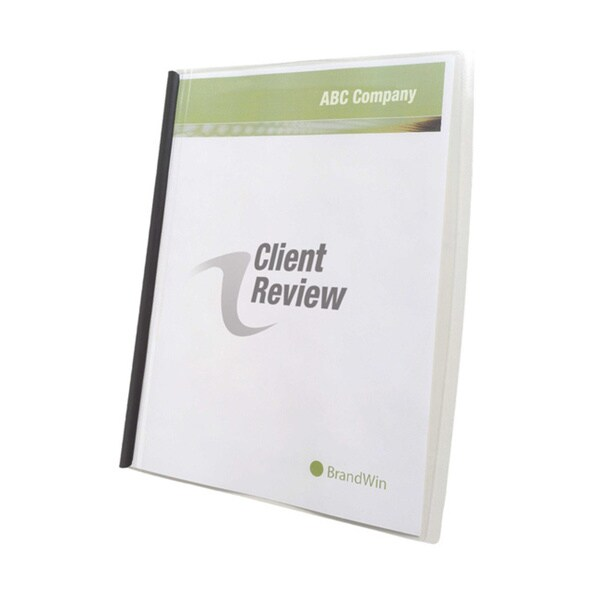 GBC Impact Frosted Slide 'n Bind Clear, Letter-size Report Covers (Pack of 10)
