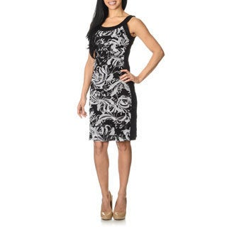 London Times Women's Floral Print Tiered Dress