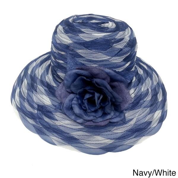 Swan Hat Women's Two-tone Braided Crinalin Packable Flower Hat