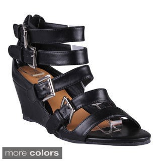 Refresh Women's 'Tinker-01' Women's Caged Wedge Sandals