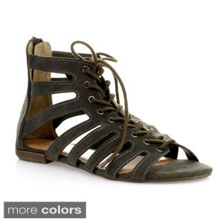 Refresh Women's 'Solo-01' Gladiator Sandals
