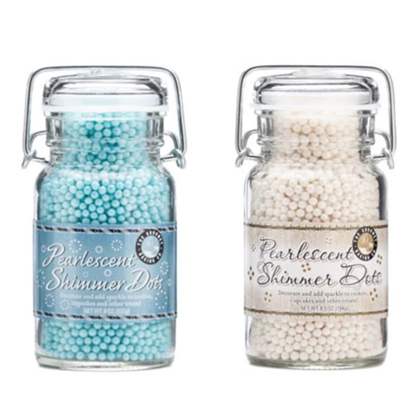 Pepper Creek Farms Shimmer Pearls Blue and White Dot Duo