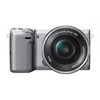 Sony Alpha NEX-5T Mirrorless Silver Digital Camera with 16-50mm Lens