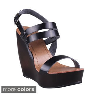 Refresh Women's Slingback Platform Wedges