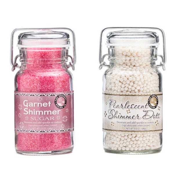 Pepper Creek Farms Pink Shimmer Sugar/ White Pearlescent Dot Duo (Set of 2)