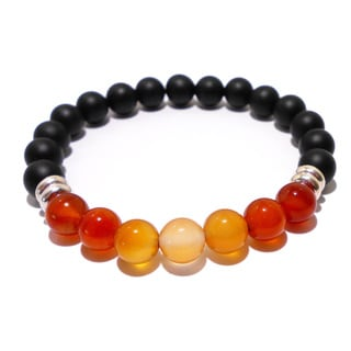 Carnelian and Black Onyx Positive Energy Bracelet