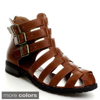 Wild Diva Women's 'Tina-56' Caged Gladiator-style Sandals