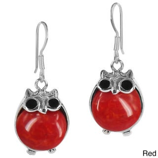 Chubby Night Owls Stone .925 Silver Earrings (Thailand)