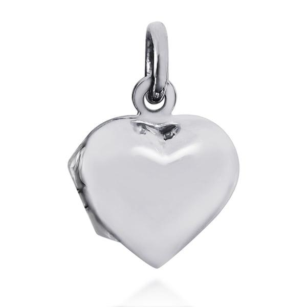 Handmade Sweet Love Heart Locket Sterling Silver Pendant (Thailand) 12667709
