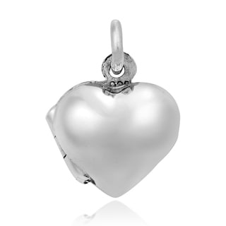 Sweet Love Small Heart Locket Sterling Silver Pendant (Thailand)