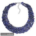Collared Cluster Genuine Stones Bead Wire Works Necklace (Thailand)