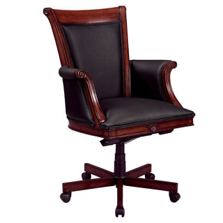 Executive High Back Chair with Wood/Upholstered Arms
