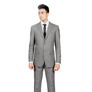 Ferrecci Men's Slim Fit Modern Grey 2-button Suit