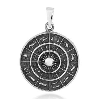 Astrological Zodiac Symbols Sterling Silver Pendant (Thailand)