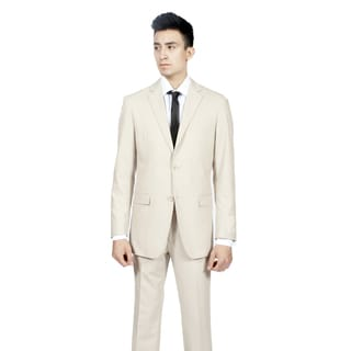 Ferrecci Men's Slim Fit Tan/ Bone 2-button Suit