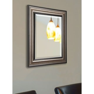 American Made Rayne Antique Silver and Black Wall Mirror