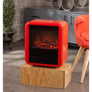 Holly & Martin Fasser Red-orange Blue Electric Fireplace