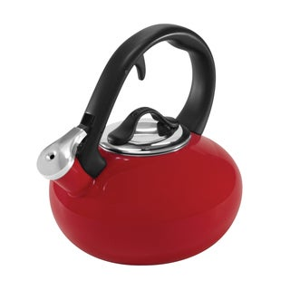 Chantal 1.8-quart Chili Red Enamel/ Steel Loop Tea Kettle
