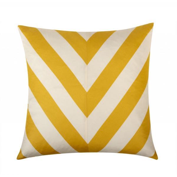 Kenya 20-inch Yellow/ White Throw Pillow