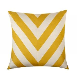 Kenya 20-inch Yellow/ White Throw Pillow