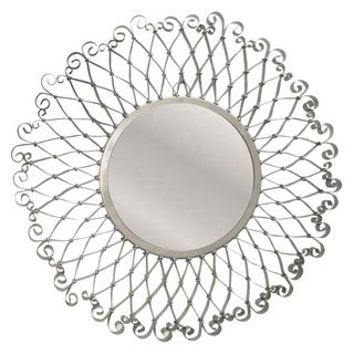 Lotus Silver Iron Mirror