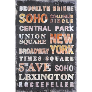 Dominic Lecavalier 'Rockefeller' Hand-Painted Canvas Art