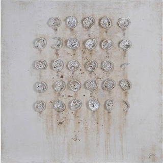 Giovanni Russo 'Craters II' Hand-painted Canvas Art