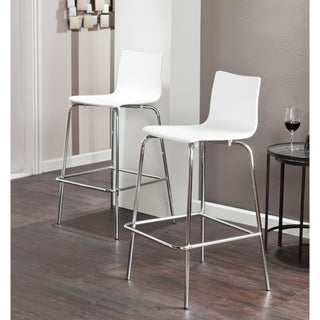 Holly & Martin Blence White Barstools (Set of 2)