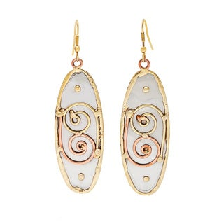 Handmade Stainless Steel with Swirls Earrings (India)