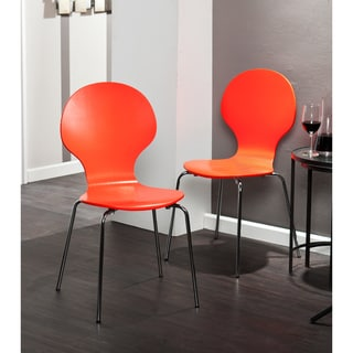 Holly & Martin Conbie Red-Orange Chairs (Set of 2)