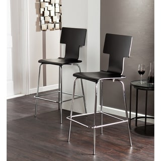 Holly and Martin Tebrack 2pc Black Barstools