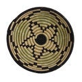 Hand-woven Sisal and Sweetgrass Star Basket (Rwanda)