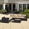 Christopher Knight Home Madrid Outdoor Black 5-piece Sofa Set