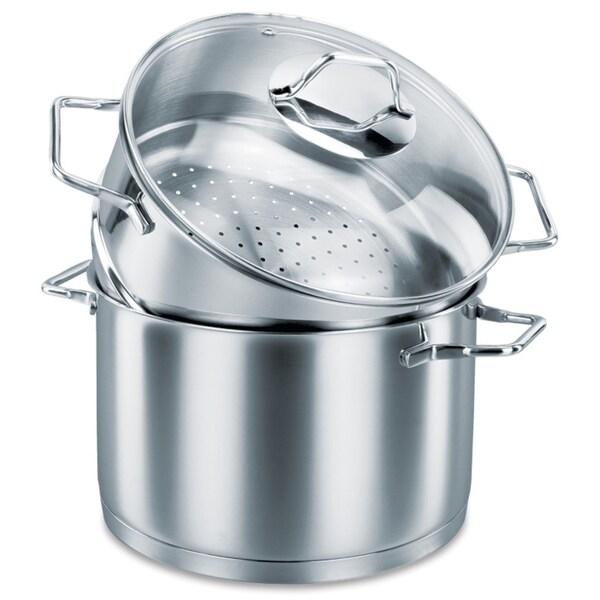 Korkmaz Provita Stainless Steel 5 Quart Capsulated Steamer and Pot
