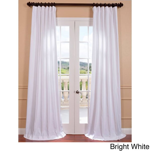 Bright white curtains