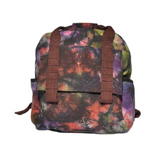 Multicolor Tie-dye Cotton Travel Utility Backpack (Nepal)