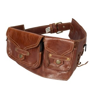 Genuine Leather Brown Travel Utility Belt (India)